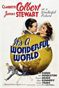 It's a Wonderful World poster with couple atop a globe