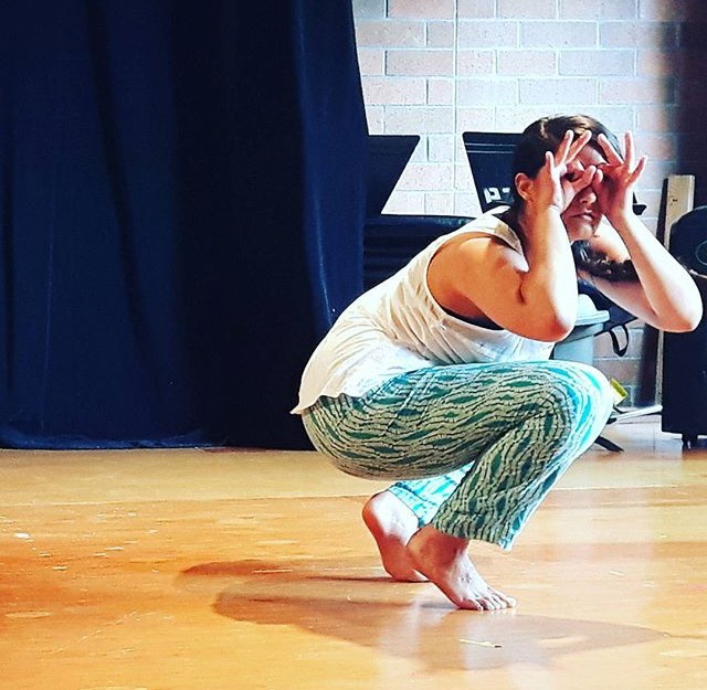Anoushka Ratnarajah rehearsing Setting Bones