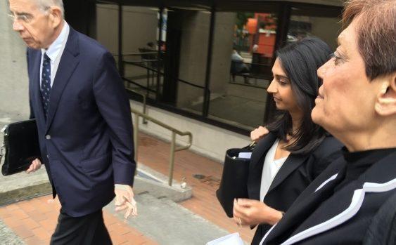 Rashida Samji leaving court