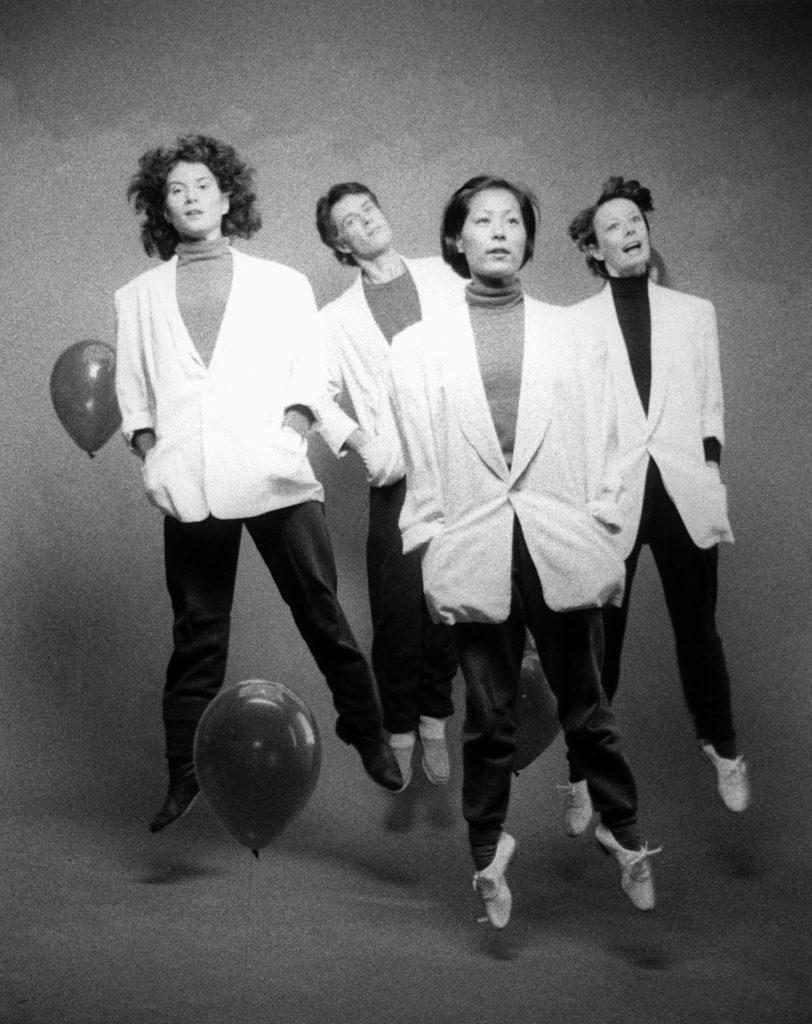 Paula Ravitz, Allan Risdill, Denise Fujiwara and Sallie Lyons in Making Waves, mid-1980s, courtesy of Dance Collection Danse