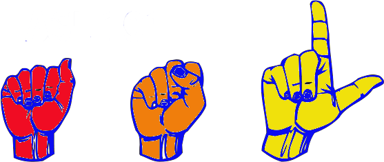 Illustration of hands spelling ASL in sign language