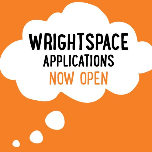Image of thought bubble syaing WrightSpace Applications Now Open