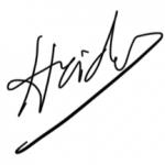 Heidi firstname signature
