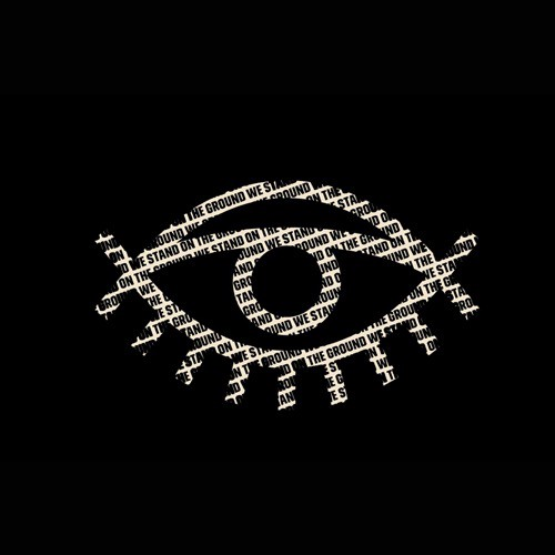 WeSeeYou logo: graphic of an eye in white outline on black background