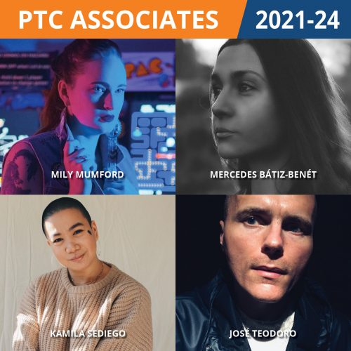 Composite image of the four PTC Associates - clockwise from top left: Mily Mumford, Mercedes Bátiz-Benét, José Teodoro, Kamila Sediego